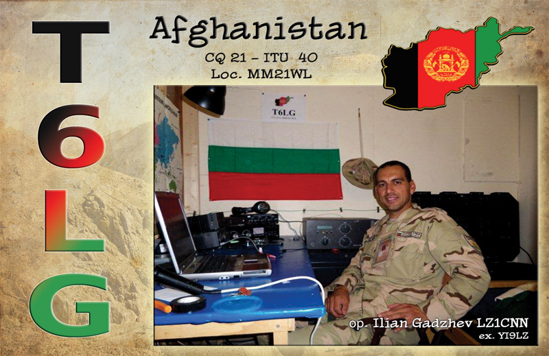 Primo QSO del 2013: Afghanistan T6LG