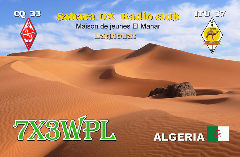 7X3WPL SAHARA DX Radio-Club