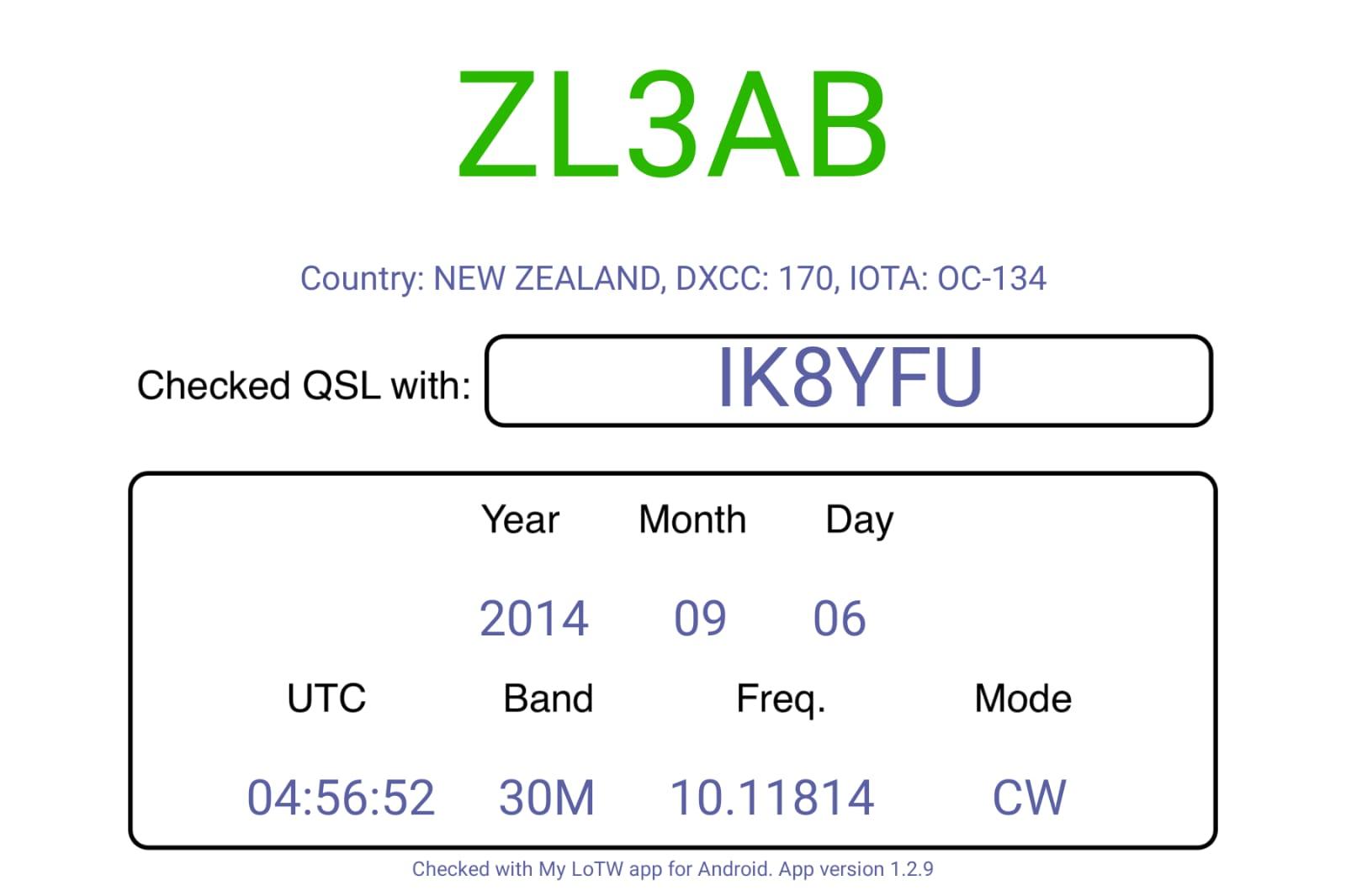 New Zeland 30m CW, che soddisfazione..